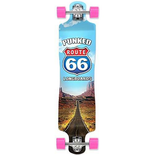 Yocaher Punked Route 66 Series The Run Longboard Complete Sk