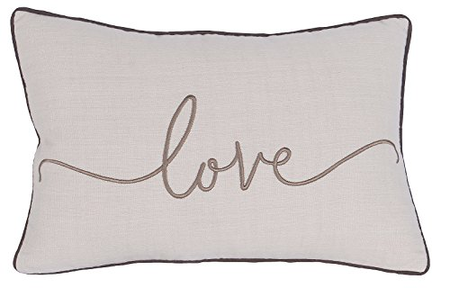 YugTex Pillowcase Love Embroidered Throw Pillow cover for wedding gift Bedroom Decor Love Decorative Pillow cover Decor Cushion Covers by YugTex