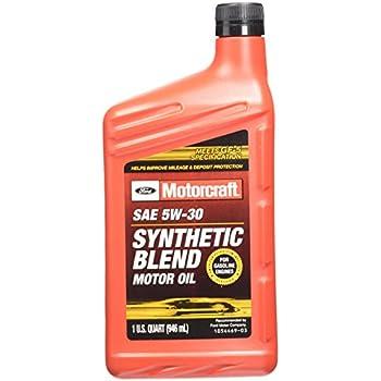 Amazon.com: Genuine Ford Fluid XO-5W20-QSP SAE 5W-20 Premium Synthetic Blend Motor Oil - 1 Quart ...