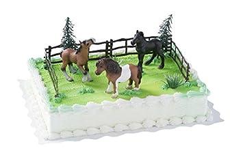 Cake Company Torten Figur Mit 3 Pferden Von Bullyland | Torten Deko Set Mit