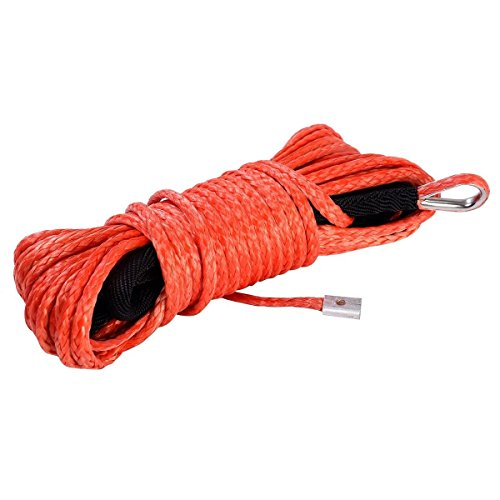"Price comparison product image Tangkula 1 / 4"" x 50' Synthetic Winch Rope Cable 5000LBS (ATV UTV) Orange"