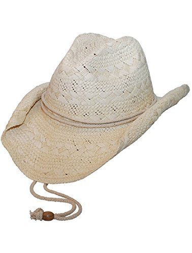 MG Ladies Toyo Straw Cowboy Hat NATURAL