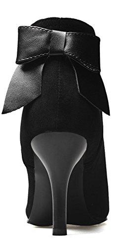 Pointu Bout Aisun Chic Noeud Noir Cheville Femme Bottines xXn7PvT