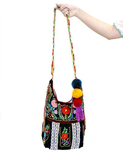 Jody Crossbody Handbag Purse Mexican Embroidery by Erica Maree
