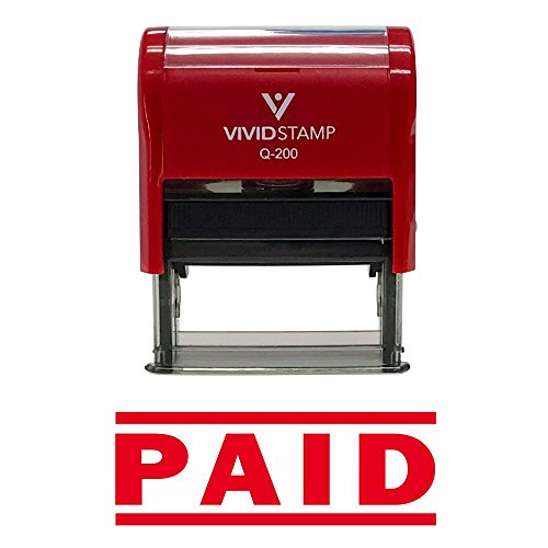 PAID Self Inking Rubber Stamp (Red) - Medium