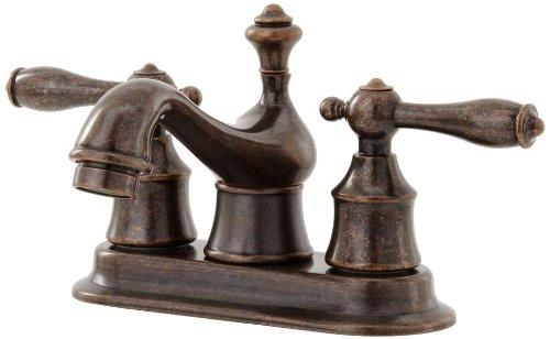 Pegasus 67102-8096H Estates 4-Inch 2-Handle Low Arc Bathroom Faucet in Heritage Bronze -