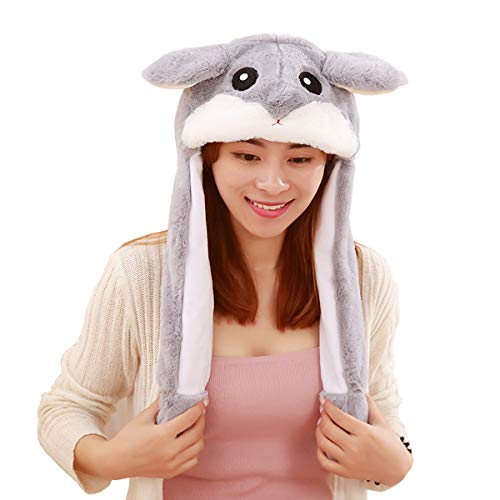 yqtyqs Hamster Hat Animal Cap Movable Ears Party Birthday ()