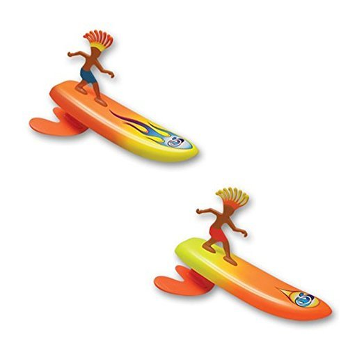 Surfer Dudes Wave Powered Mini-Surfer and Surfboard Beach Toy - 2 Pack - Sam and Rick by Surfer Dudes