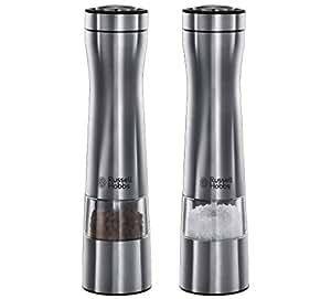 Producto nuevo RUSSELL HOBBS funciona con pilas molino de sal y pimienta de acero inoxidable