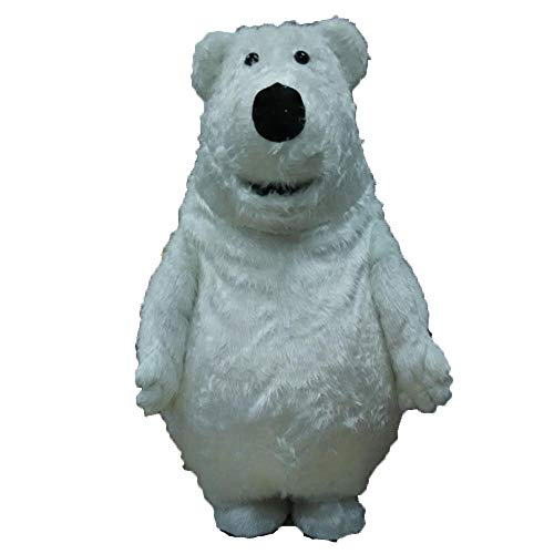 100% Real Photos Lovely Polar Bear Mascot Costume for Company Advertising Funny Mascot Costumes Animal Mascots Deguisement Mascotte -