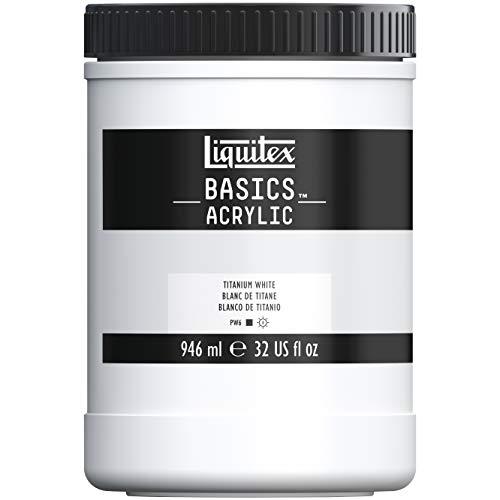 Liquitex BASICS Acrylic Paint, 32-oz jar, Titanium White (Paint Jar Acrylic)