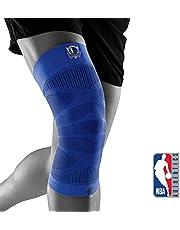 """Bauerfeind Kniebandage """"Sports Compression Knee Support NBA"""", 1 Unisex Sportkniebandage für Ballsportarten, Basketball Knie-Bandage mit NBA-Logo"""