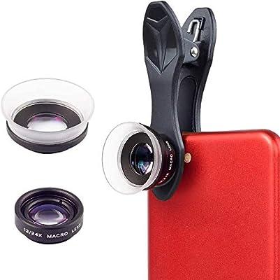 APEXEL 2 en 1 Clip-On Kit de Lentes de la cámara, 12X Macro + 24X ...