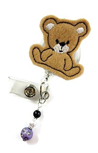 Cute Cuddly Bear- Nurse Badge Reel - Retractable ID Badge Holder - Nurse Badge - Badge Clip - Badge Reels - Pediatric - RN - Name Badge Holder