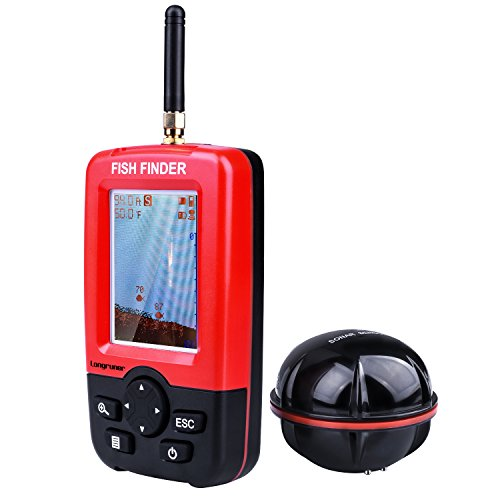 Longruner Fish Finder Portable FishTrax Electronic Wireless Fish Attractor with Colorful LED Display LXJ-01 by Longruner