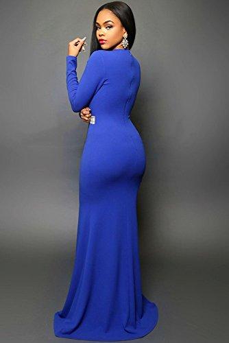 Elegante dama azul brillante cintura Noche Vestido de Cóctel Prom Party Dance Club wear tamaño de la 8–�?0