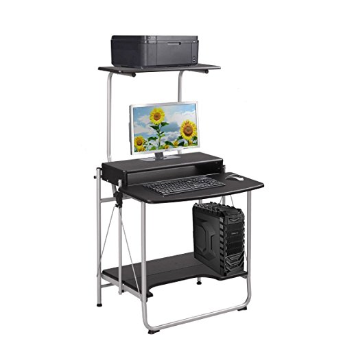 Folding Computer Desk Table W/ Printer Shelf Home Office Laptop Student Furnitur from Unknown
