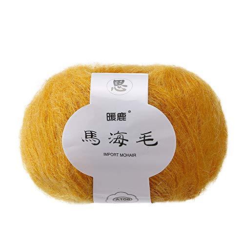 Mohair Light Brown (Transer Lightweight Soft Mohair Cashmere Hand Knitting Wool Crochet Knitwear Yarn for Knitting, Crocheting, Weaving - 41 Colors, 25.0g / Skein (23))