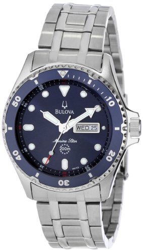Bulova Men's 98C62  Marine Star Analog Japanese quartz Silver Watch