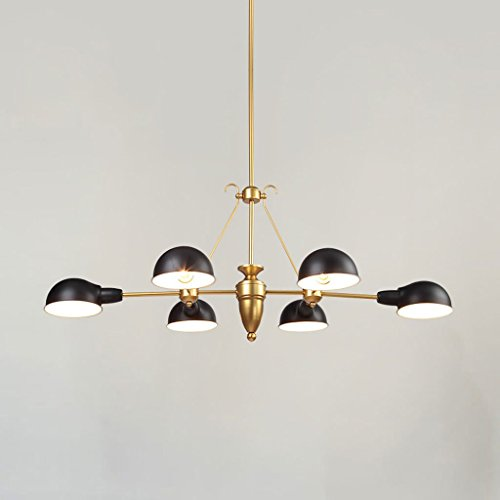 Simple Golden Fashion LED Chandelier, Living Room Study Restaurant Chandelier E27 - Chandelier Light Lily Six
