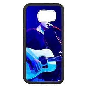 Samsung Galaxy S6 funda Negro [PC dura del caso + HD Pattern] Shawn Serie Mendes® [Numeración: JJJJDHKOS4049]