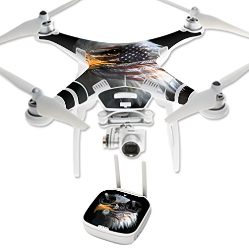 MightySkins Protective Vinyl Skin Decal for DJI Phantom 3 Professional or Advanced Quadcopter Drone wrap Cover Sticker Skins Eagle Eye
