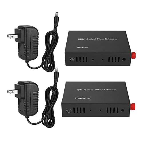 Pomya Fiber Optical Media Converter,Ethernet Media Converter with HDMI Single Mode Single Core, Adapting to a Wide Range of Complex Application Environments,up to 2000M(Black)