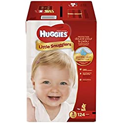 Huggies Little Snugglers Baby Diapers, Size 3, 124 Count (Packaging May Vary)