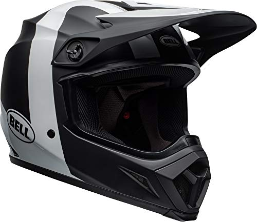 Bell MX-9 MIPS Off-Road Motorcycle Helmet (Presence Matte/Gloss Black/White, Small)