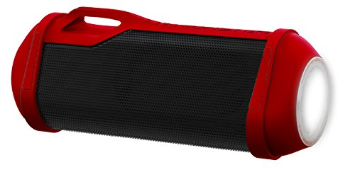 Monster Firecracker High Definition Bluetooth Speaker in Red - portable bluetooth wireless speaker for outdoor, camping
