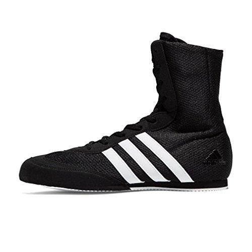 (adidas Box Hog 2 Mens Boxing Trainer Shoe Boot Black/White - US)