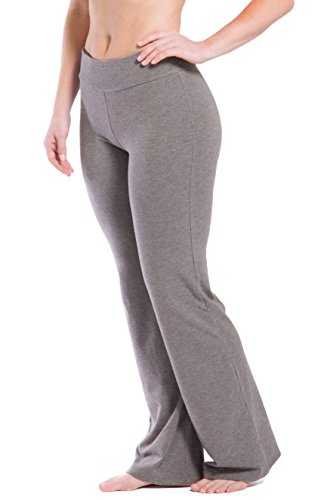 - Fishers Finery Women's EcoFabricClassic Bootleg Yoga Pant (Lt H Gry, M)