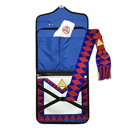 Masonic Royal Arch Companion lambskin Apron, Sash, File case HRD and Masonic Gloves Set