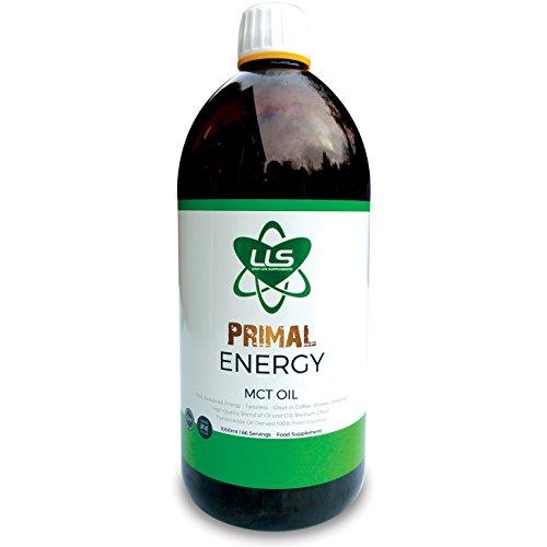 LLS Primal Energy MCT Oil | 1000ml Bottle | 100% Coconut Medium Chain...