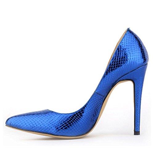 XIE Femmes pointues talon compensé chaussures simples chaussures paresseuses dans la pente talon ensemble de pieds chaussures pour femmes confortables chaussures rouleau d'oeufs