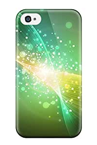 Flexible Tpu Back Case Cover For Iphone 4/4s - Abstract Green