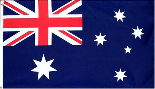 Anley |Fly Breeze| 3x5 Foot Australia Flag - Vivid Color and UV Fade Resistant - Canvas Header and Double Stitched - Australian National Flags Polyester with Brass Grommets 3 X 5 Ft