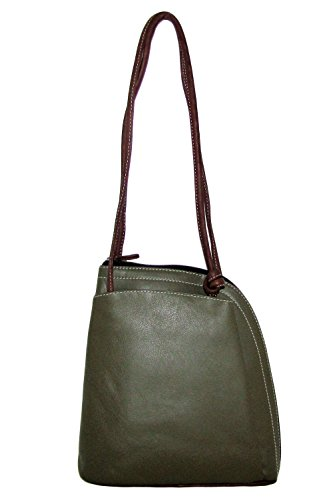 Backpack Leather Convertible Olive Handbag Toffee Italian Design 7cqZPpRWpS