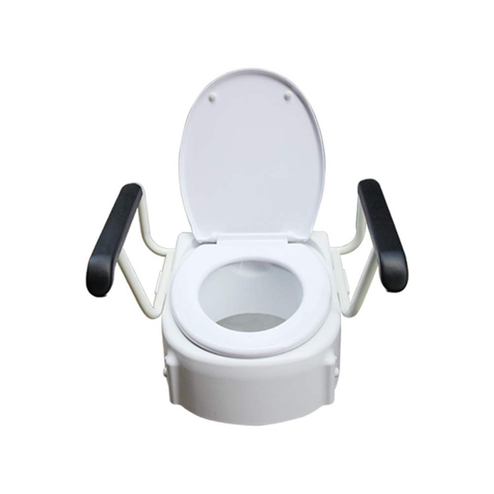 GFYWZ Raised Toilet Seat, Portable Assistance Toilet Seat with Armrest for Disabled & Elderly for WC and Bathroom