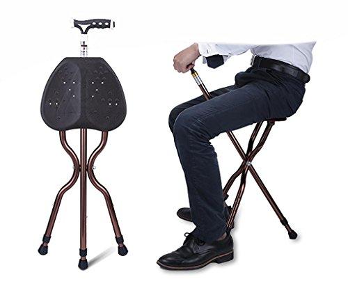 G&M Adjustable Folding Walking Cane Chair Stool Massage Walking Stick with Seat Portable Fishing...