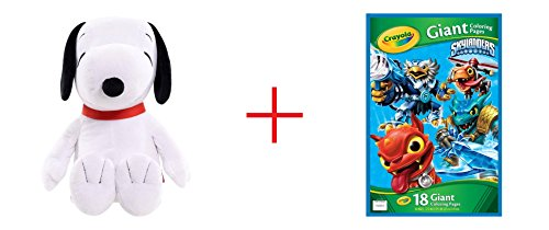 Peanuts Jumbo Plush - Snoopy and Skylanders Giant Coloring Page - Bundle