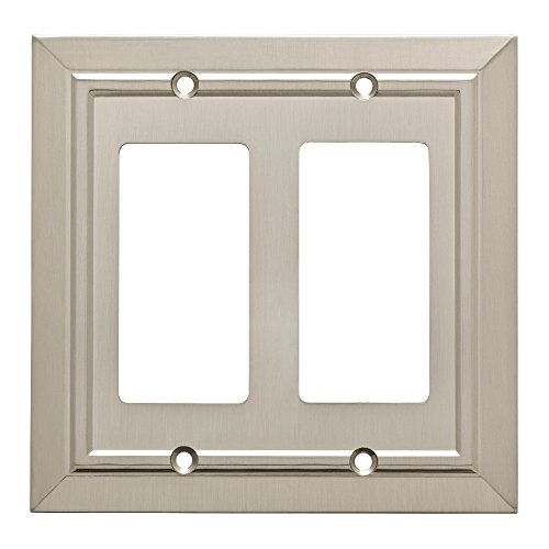 Franklin Brass W35224-SN-C Classic Architecture Double Decorator Wall Plate/Switch Plate/Cover, Satin Nickel ()