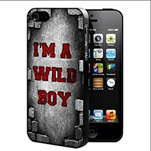 I'm A Wild Boy Quote With Red And Grey Background Hard Snap On Case Cover (iPhone 5 5s) by icecream design