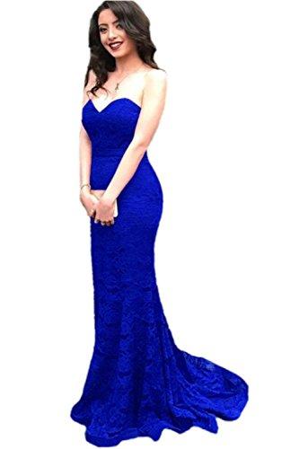 Promworld Damen A-Linie Kleid Königsblau L2tKSLI