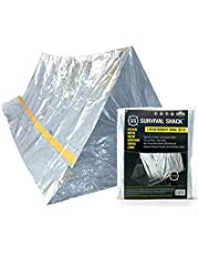 SharpSurvival Emergency Survival Shelter Tent | 2 Person Mylar Thermal Shelter | 8' X 5' All Weather Tube Tent | Reflective Material Conserves Heat | Lightweight | Waterproof | Best Survival Gear