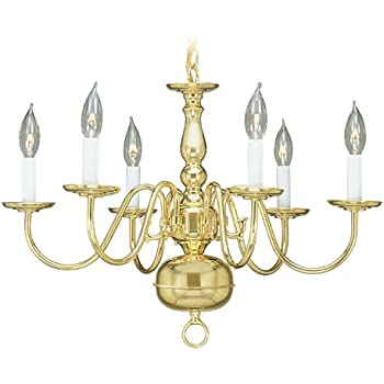 Progress lighting p4357 10 8 light americana chandelier with livex lighting 5006 02 williamsburg 6 light polished brass chandelier aloadofball Images