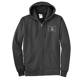 Essential Fleece Full-Zip Hooded Sweatshirt  36 Qty  35.34 Per Customization Product with Your Custom Logo