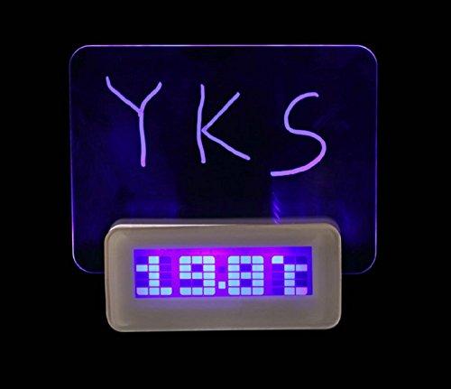 Blue LED Fluorescent Message Board Digital Alarm Clock Calendar Night Light Modem LED Alarm