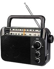 Retekess TR604 Radio Portable Radio AM/FM 2 Band Radio Support Dry Battery Power + AC Power Supply radios Portable with Headphone Jack for The Elderly