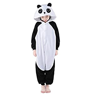 NEWCOSPLAY Unisex Children Cute Panda Pyjamas Halloween Costume